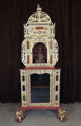 Antique Burmese Buddha Temple