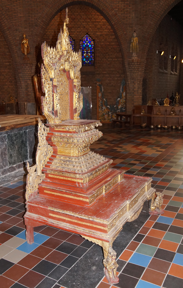 Large antique Burmese Throne from Burma made from Wood