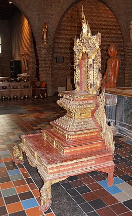 Large antique Burmese Throne