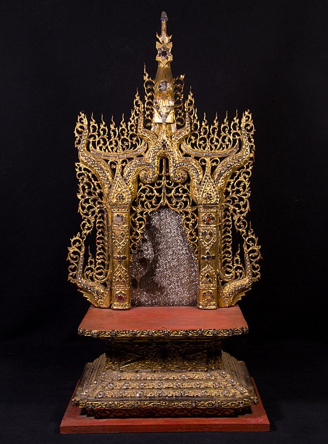 Large antique Buddha throne