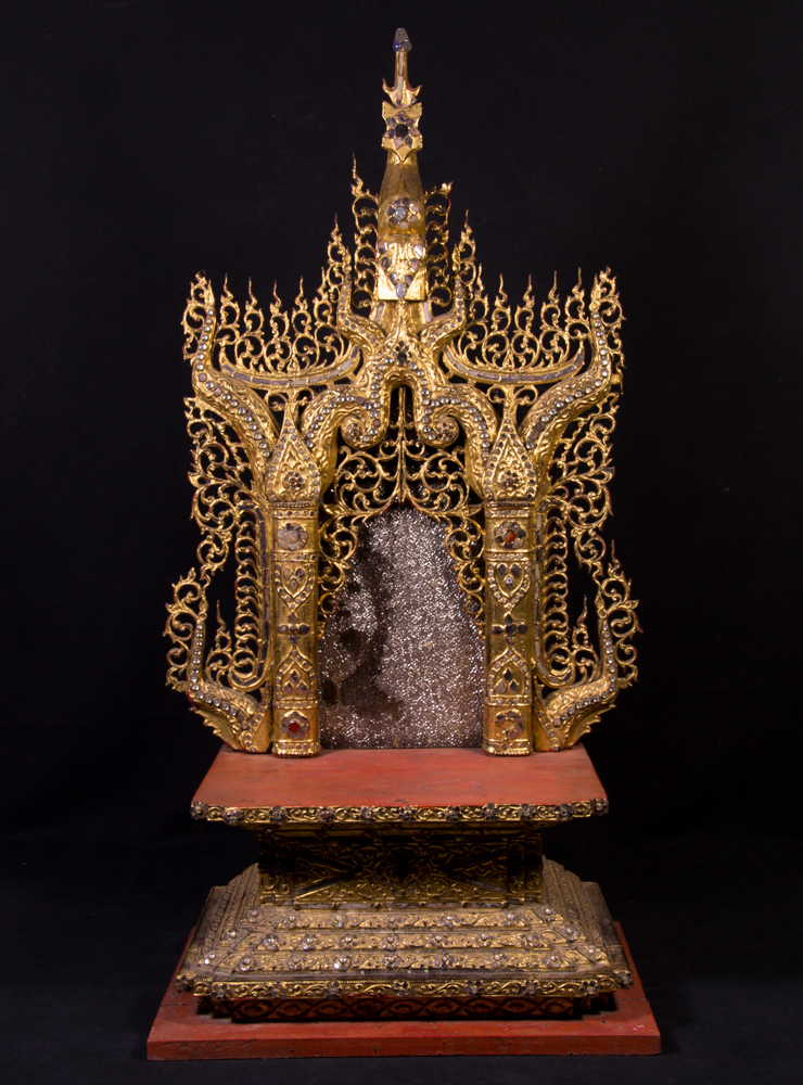 Large antique Buddha throne from Burma