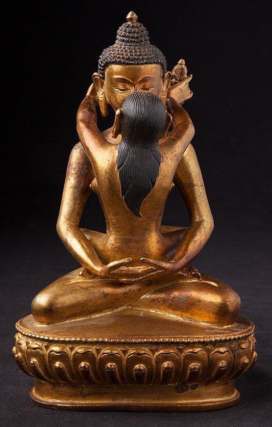 Alte bronze Buddha Shakti Figur