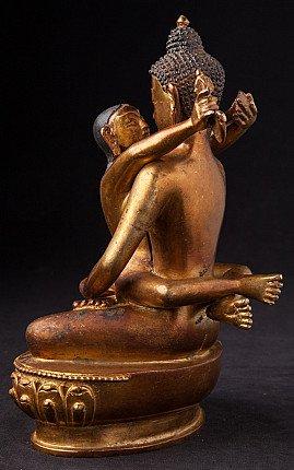 Old bronze Buddha Shakti statue