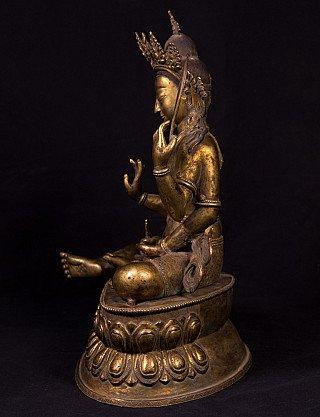 Old bronze Manjushree statue