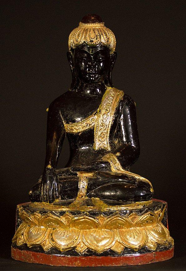 Alte Birmanische Lotus Buddha Figur