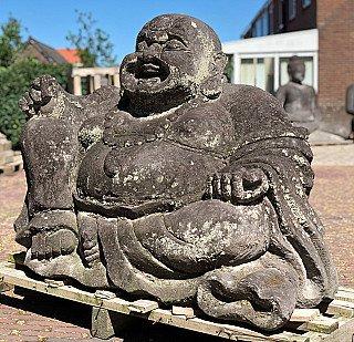 Grote lavastenen Lachende Boeddha