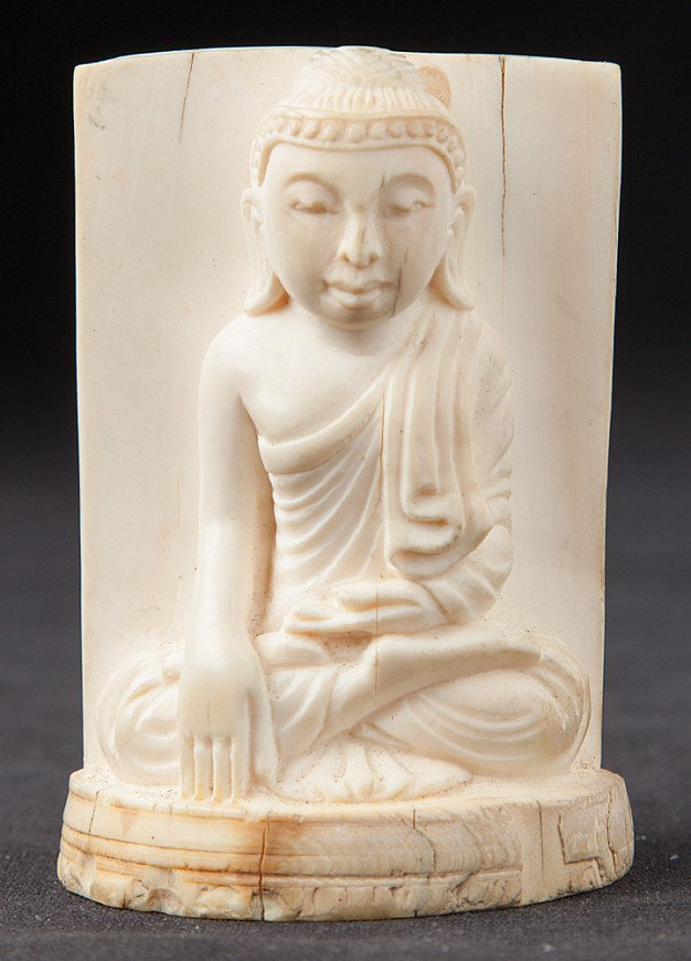 Antique Ivory Buddha statue