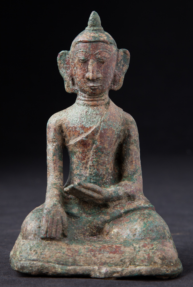 Antique bronze Mon Buddha statue from Burma