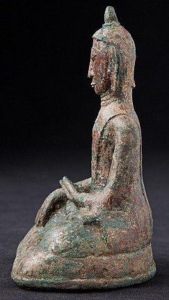 Antique bronze Mon Buddha statue