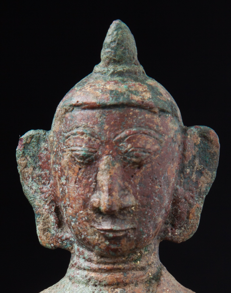 Antique bronze Mon Buddha statue from Burma made from Bronze