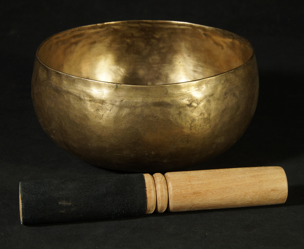 Old Nepali Singing Bowl from Nepal made from Bronze