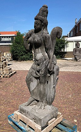 Large lavastone Tara statue