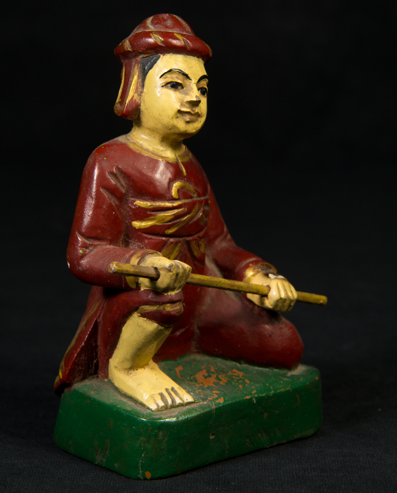 Old Burmese Zaw-Gyi Nat from Burma made from Wood