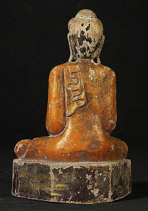 Oud houten Ava Boeddhabeeld