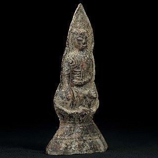 Antique bronze Buddha amulet