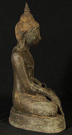 Alte bronze Birmanische Buddha Figur