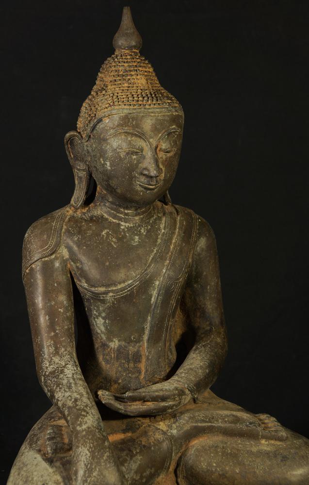 Old bronze Burmese Buddha statue