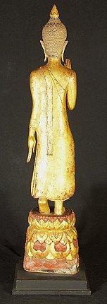 Oude houten Laos Boeddha