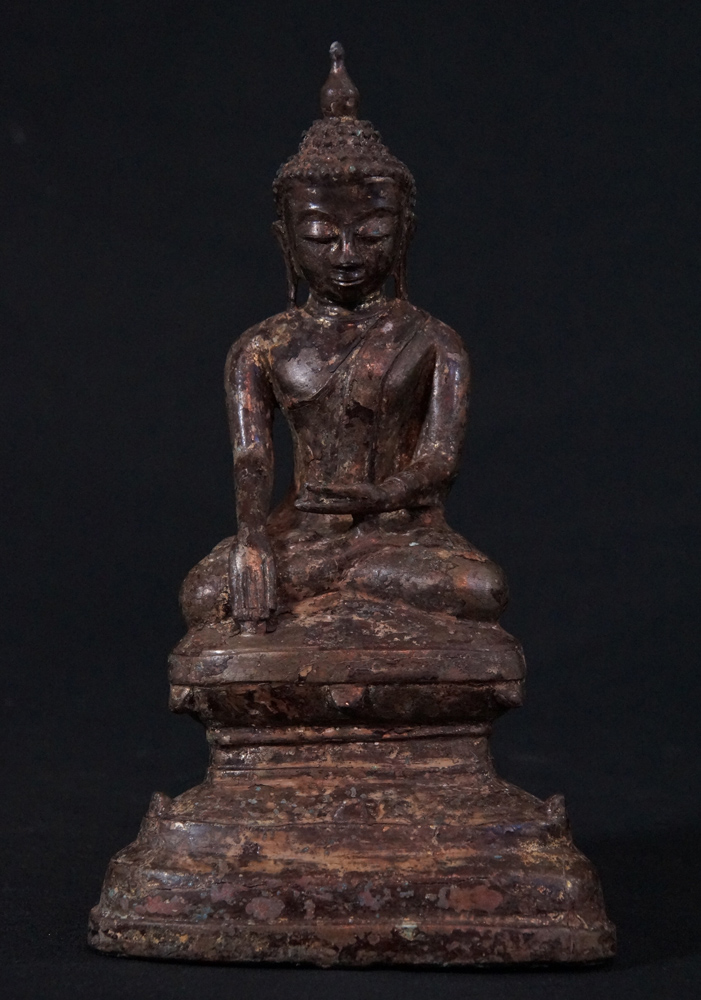 Antique bronze Buddha statue from Burma