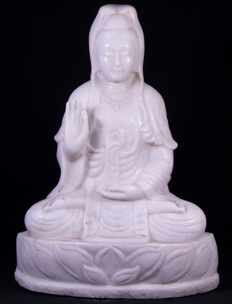 Marble Guan Yin statue from Burma made from Marble