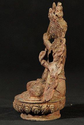 Alte bronze Manjushree Figur
