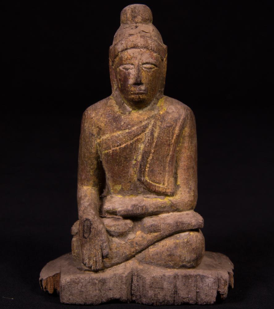 Antike holzerne shan buddha figur aus birma gemacht aus holz for Buddha figur holz