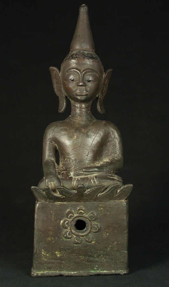 Antique bronze Laos Buddha Buddha statue from Laos made from Bronze
