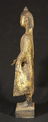 18th century wooden Buddha statue