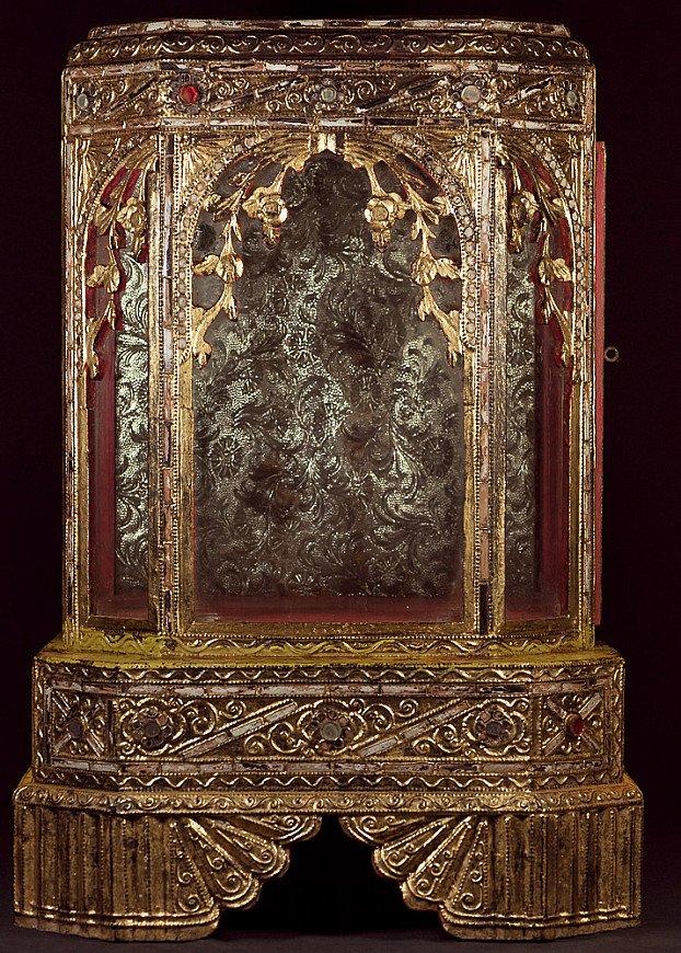 Antieke houten Boeddha tempel