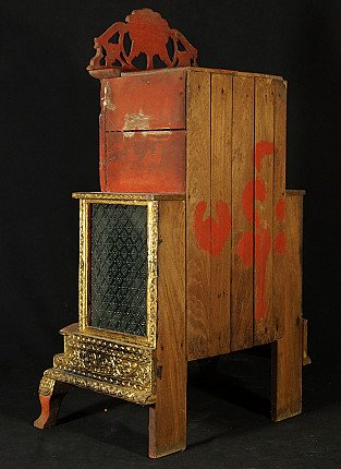 Antique wooden home shrine