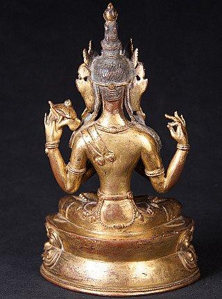 Very special antique Tibetan Avaloketishvara statue