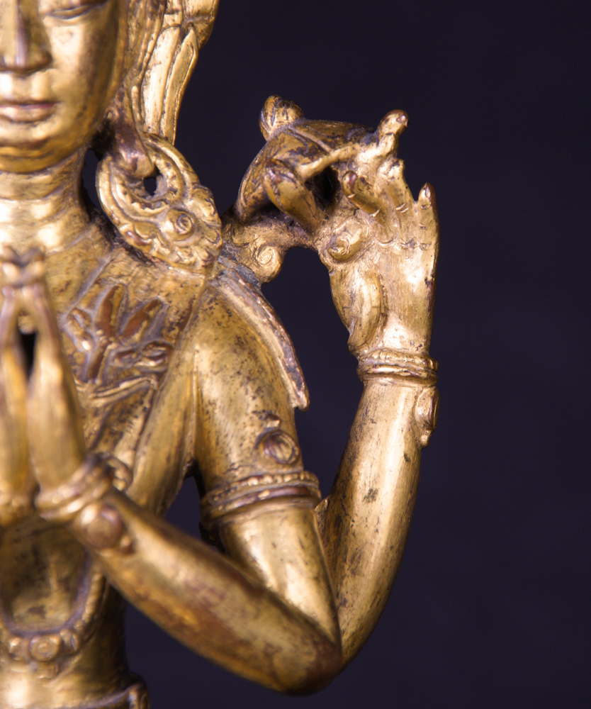 Very special antique Tibetan Avaloketishvara statue from Tibet made from Bronze