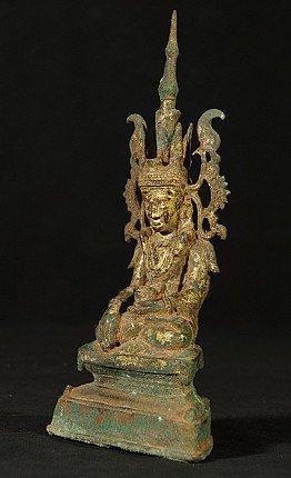 15-16e eeuwse bronzen Ava Boeddha