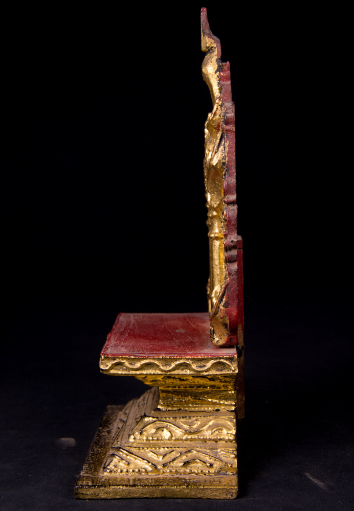 Antique Buddhist throne from Burma made from Wood