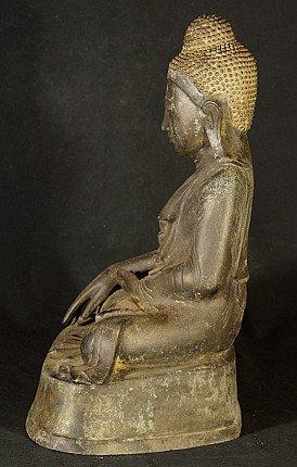 Alte bronze Mandalay Buddha Figur