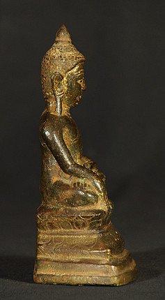 17e eeuwse bronzen Ava Boeddha