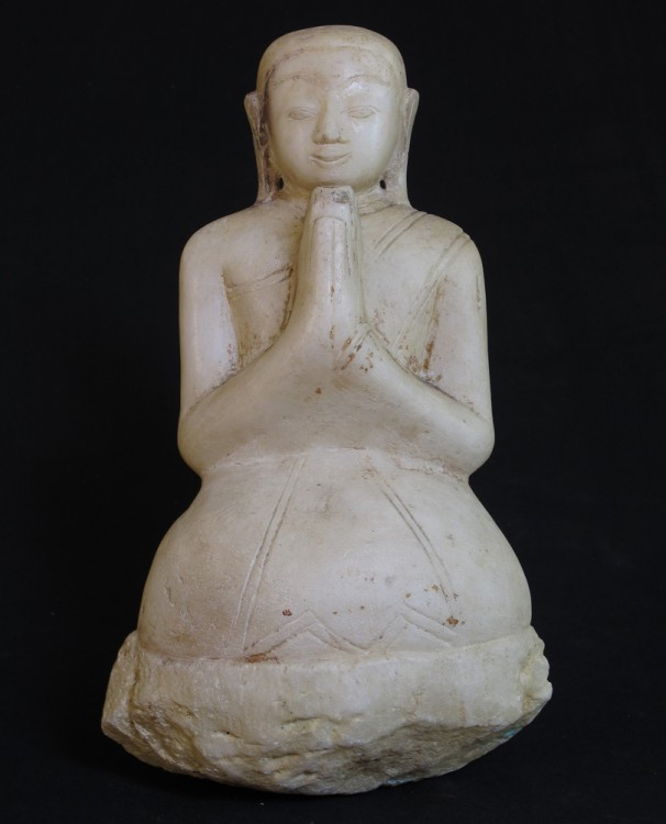 Antique Burmese monk statue from Burma