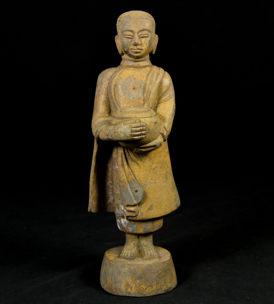 Old bronze Monk statue from Burma