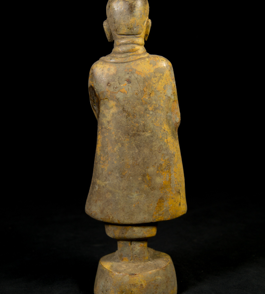 Old bronze Monk statue from Burma made from Bronze