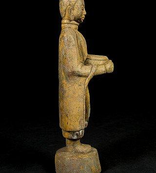 Alte bronze Monch Figur