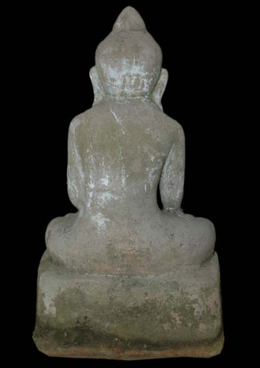 Antique sitting Buddha from Burma made from Sandstone