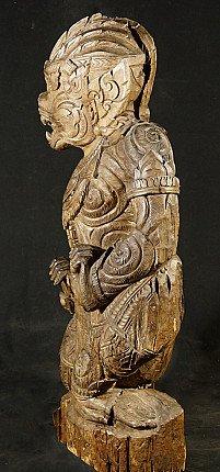Large wooden Hanuman statue