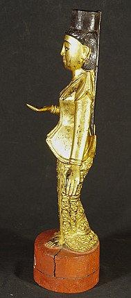 Antique wooden Nat statue