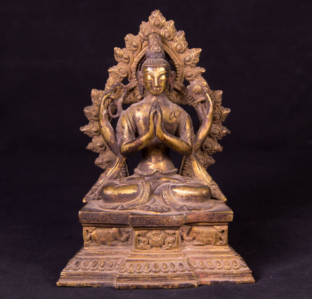 Antique Bodhisatva statue - Kacheri from Nepal