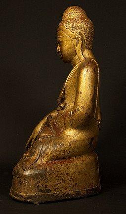 Bronzen Mandalay Boeddhabeeld