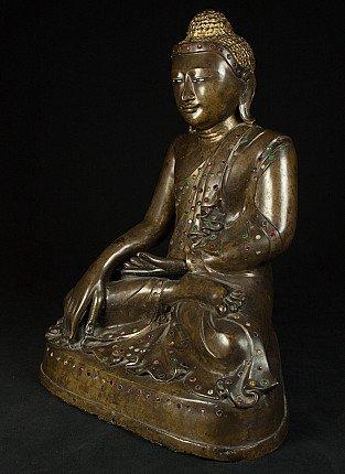 Antieke bronzen Mandalayboeddha