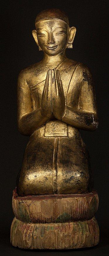 Large Burmese Monk statue