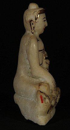 Newly made marble Buddha statue
