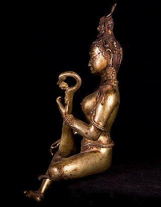 Old bronze Saraswati statue