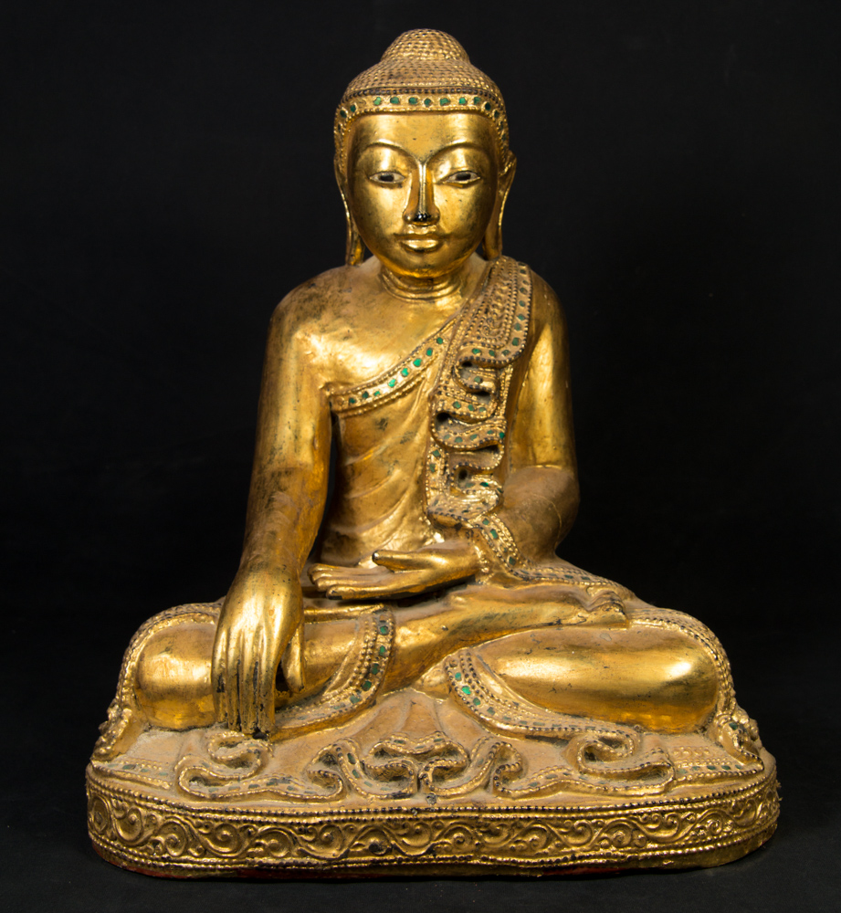 Old Burmese Mandalay Buddha statue from Burma